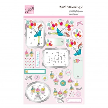 Foiled Decoupage - Balloon Girl