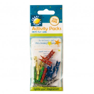 Mini Pegs Metallic (15pcs) - Blue, Gold, Green, Red, Silver