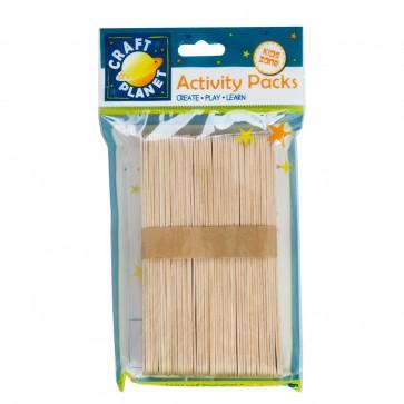 Lollipop Sticks (approx. 50pcs) - Natural (Extra Large)