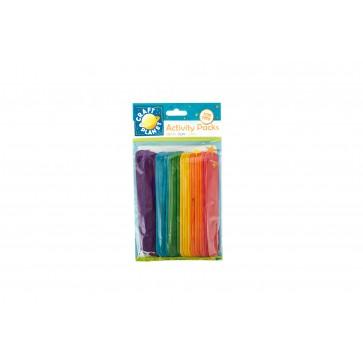 Lollipop Sticks (25pcs) - Assorted Colours (Extra Large)
