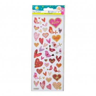 Fun Stickers - Hearts & Birds