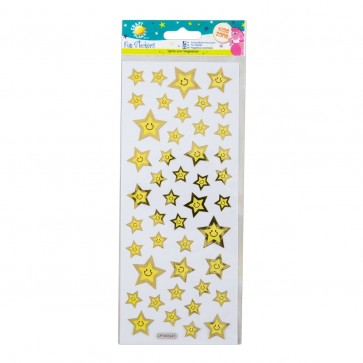 Fun Stickers - Smiley Face Stars