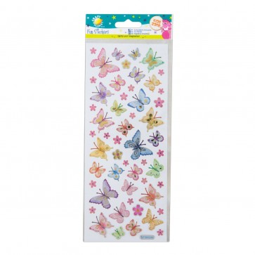 Fun Stickers - Butterflies & Flowers