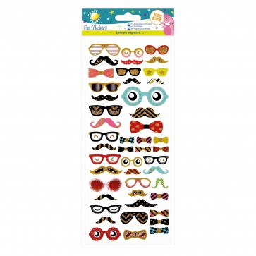 Fun Stickers - Glasses & Moustaches