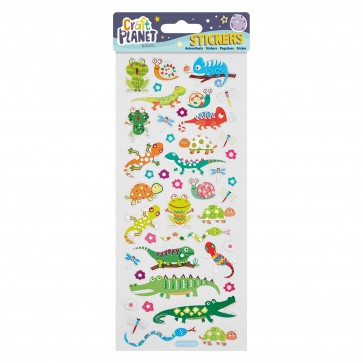 Fun Stickers - Crocs & Lizards