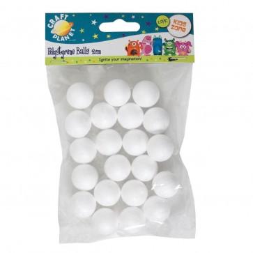 2cm Polystyrene Balls (20pcs)