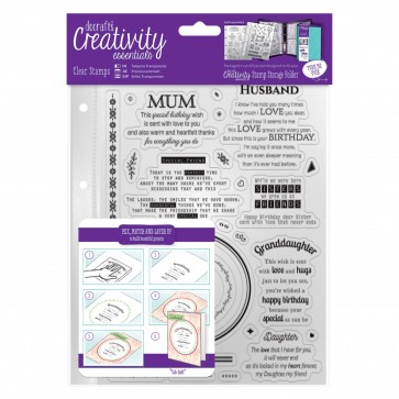 A5 Clear Stamp Set (30pcs) - Verses