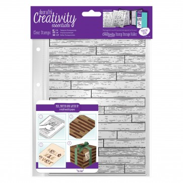 A5 Clear Stamp Set (1pcs) - Wooden Boards Background