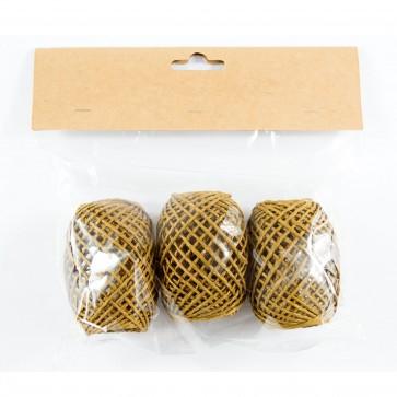 Paper String Balls 30m Brown