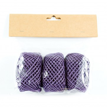Paper String Balls 30m Purple