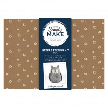 Needle Felting Kit - Simply Make - Owl