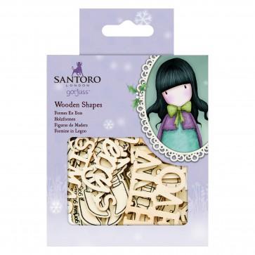 Wooden Shapes (20pk) - Santoro