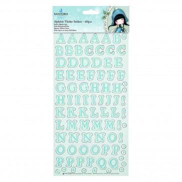 Alphabet Thicker Stickers (168pcs) - Santoro