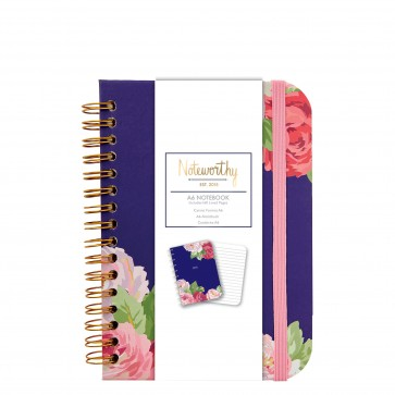 A6 Notebook - Graphic Florals