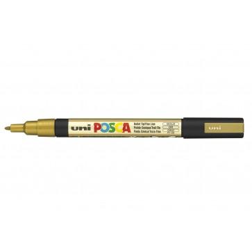 PC-3M POSCA Marker Fine Bullet Tip Gold