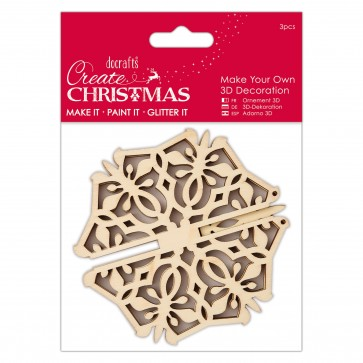 Make Your Own 3D Decoration - Snowflake