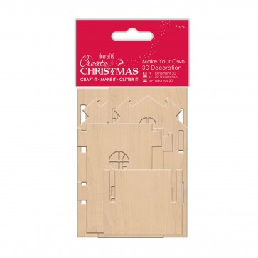 Make Your Own 3D Decoration - Medium Wooden House
