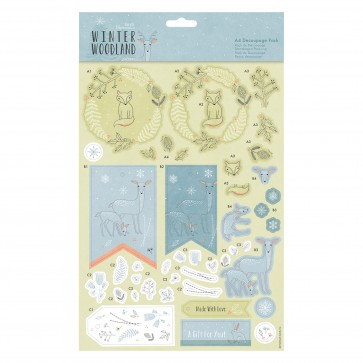 A4 Decoupage Pack - Winter Woodland