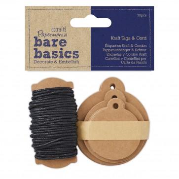 Kraft Tags & Cord (30 pk) - Bare Basics