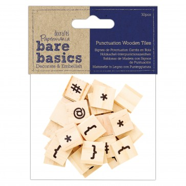Punctuation Wooden Tiles - Bare Basics - Icons