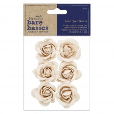 Burlap Flowers (6pcs) - Bare Basics - Rose