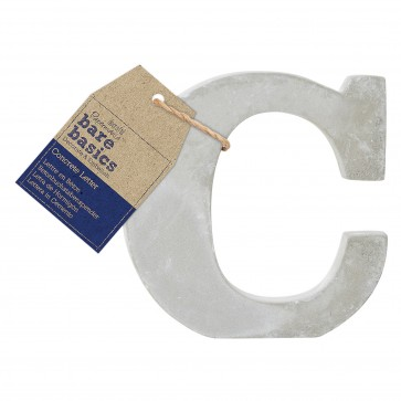 Concrete Letter (1pc) - Bare Basics - C