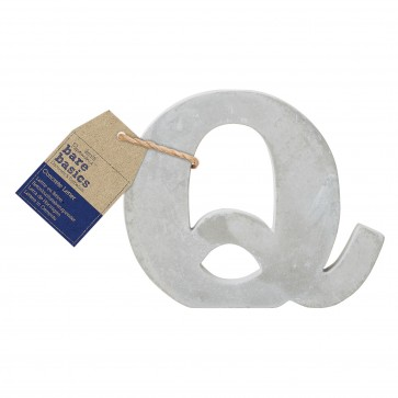 Concrete Letter (1pc) - Bare Basics - Q