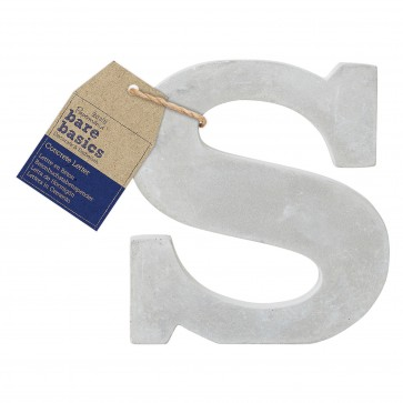 Concrete Letter (1pc) - Bare Basics - S