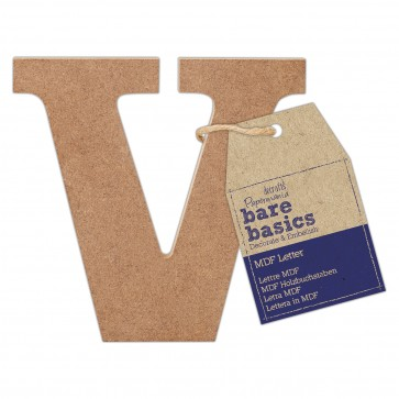 MDF Letter (1pc) - Bare Basics - V
