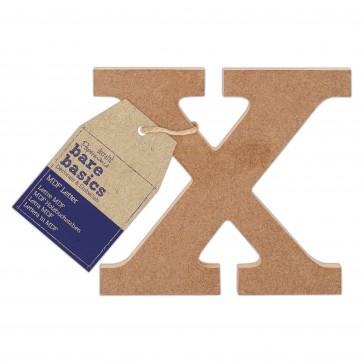 MDF Letter (1pc) - Bare Basics - X