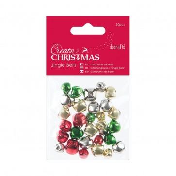 Jingle Bells (30pcs) - Mixed Colours & Sizes