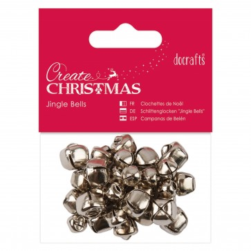 Jingle Bells (30pcs) - Silver - Assorted Sizes