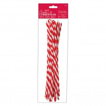 Candy Stripe Chenille Stems (20pcs)