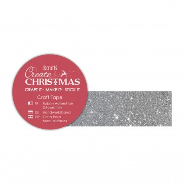 Craft Tape (5m) - Silver Glitter