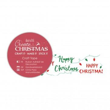 Craft Tape (5m) - Happy Christmas