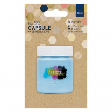 Fabric Paint - Capsule -  Geometric Kraft - Sky Blue