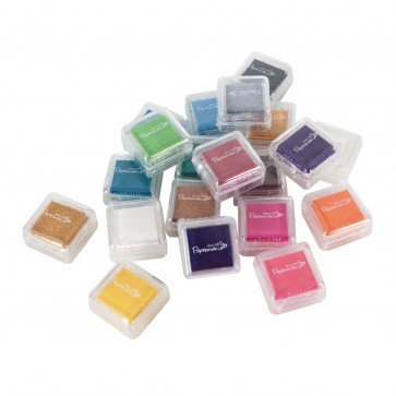 Mini Ink Pads Dye Based (20pk) - Assorted Colours