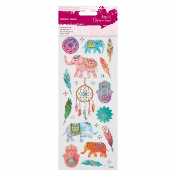 Glitter  Stickers - Indian Elephants