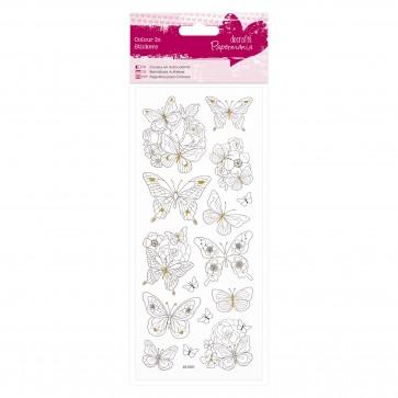 Colour In Glitter Stickers - Butterflies