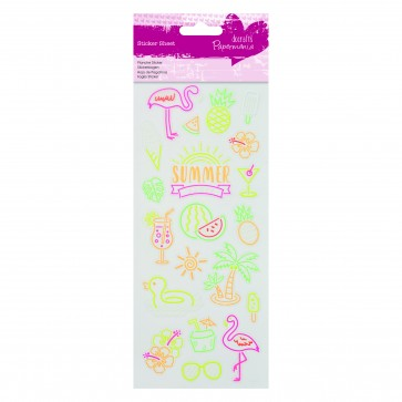 Neon Glitter Stickers - Summer Party