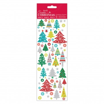Christmas Stickers - Folk Trees