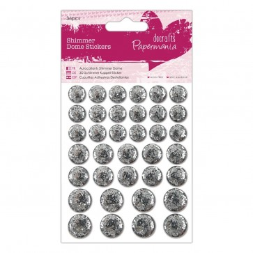 Shimmer Dome Stickers (36pcs) - Silver