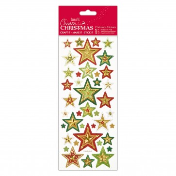 Foiled & Embossed Stickers - Christmas Stars