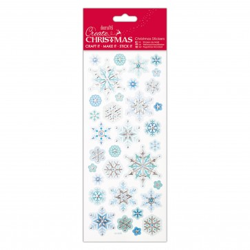 Foiled & Embossed Stickers - Snowflakes