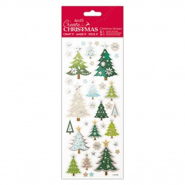 Foiled & Embossed Stickers - Christmas Trees