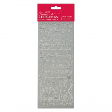 Outline Stickers - Traditional Xmas Verses - Silver