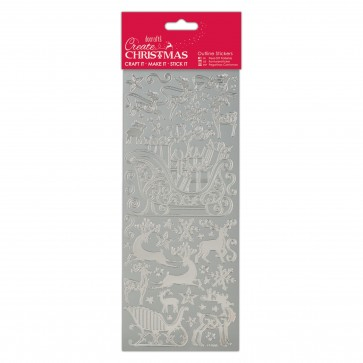 Outline Stickers - Sleigh Ride - Silver