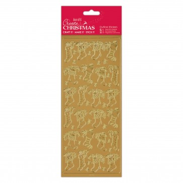 Outline Stickers - Stockings - Gold