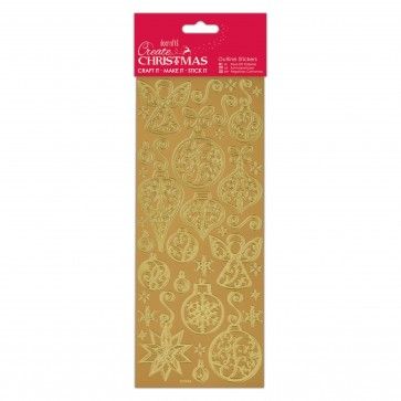 Outline Stickers - Baubles & Angels - Gold