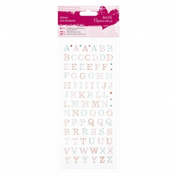 Glitter Dot Stickers - Upper Case Alphabet
